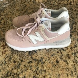 New Balance pink 574 sneakers